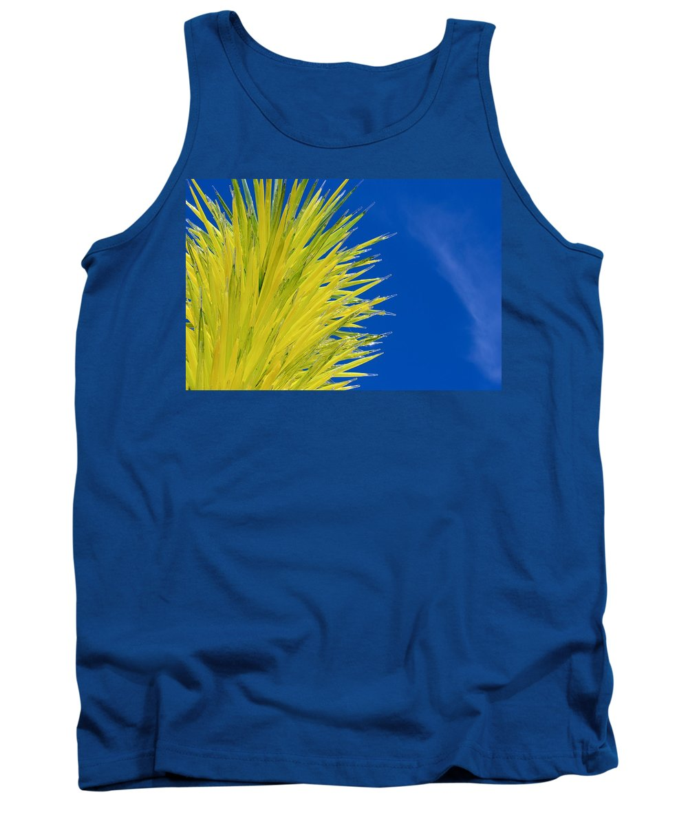 Dale Glass Tree Tank Top featuring the photograph Chihuly Glass Tree by Eric Tressler