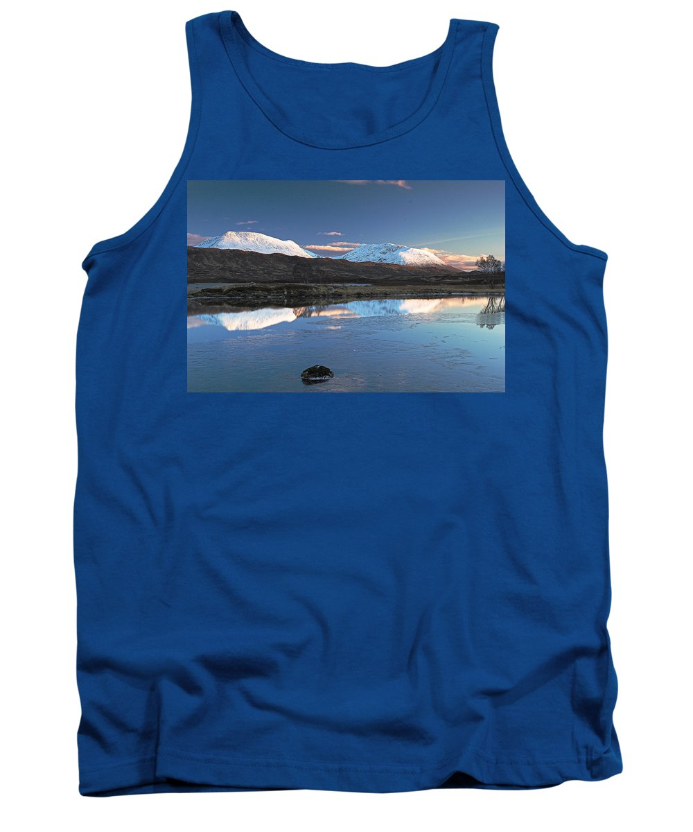 Scotland Tank Top featuring the digital art Crianlarich Sunset by Pat Speirs