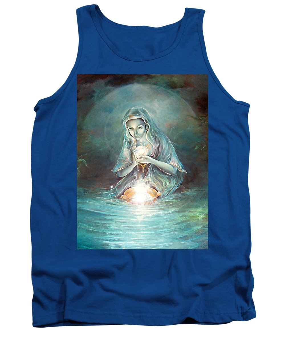 Fantasy Tank Top featuring the painting Deliverance by Penny Golledge