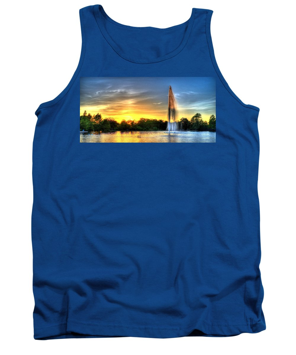 Girl Tank Top featuring the photograph Duckling Dinner Time by David Morefield