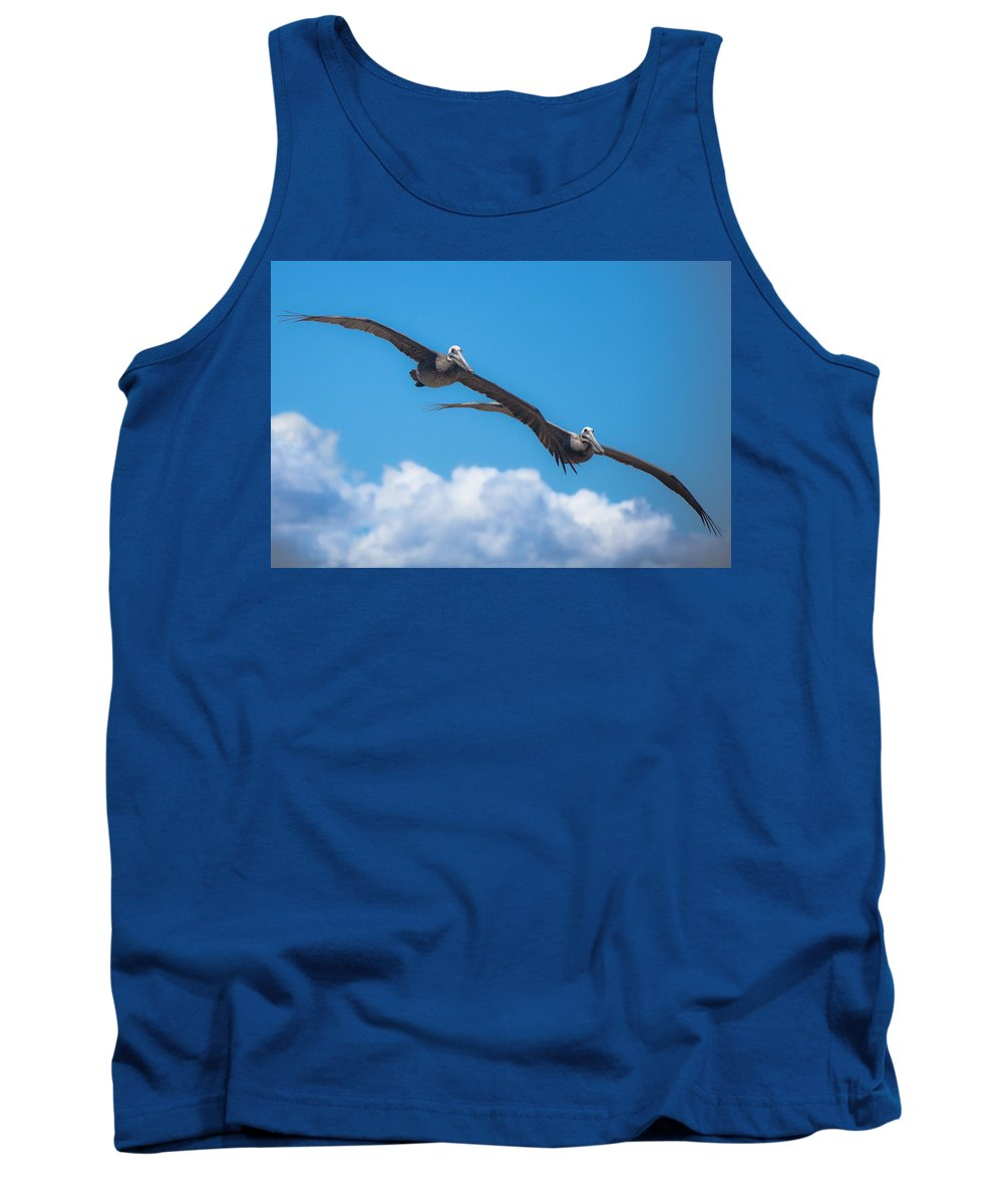 Pelican Tank Top featuring the photograph Duet by Ralf Kaiser