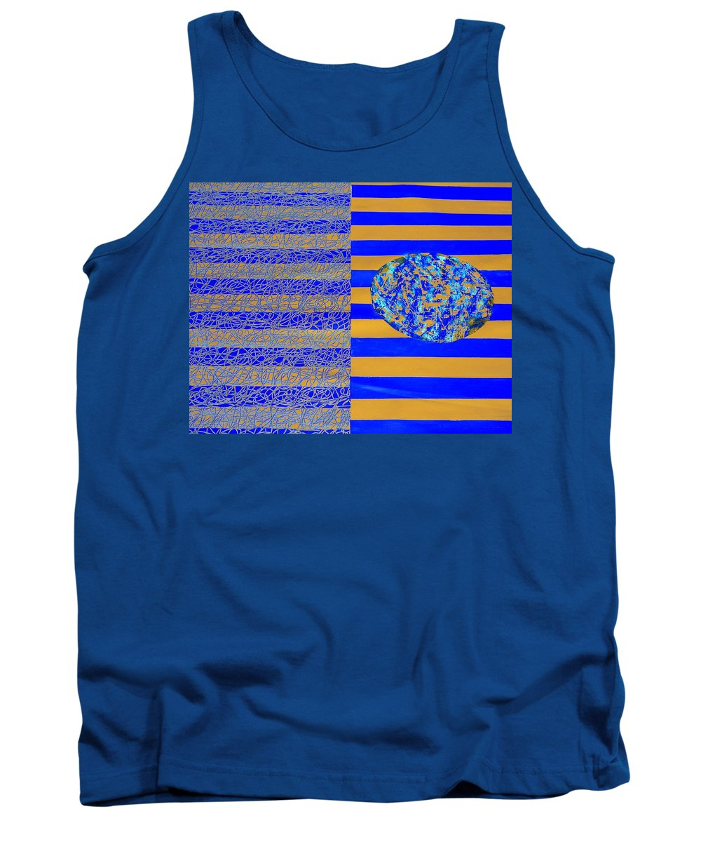 Tank Top featuring the painting Earth by Sumit Mehndiratta
