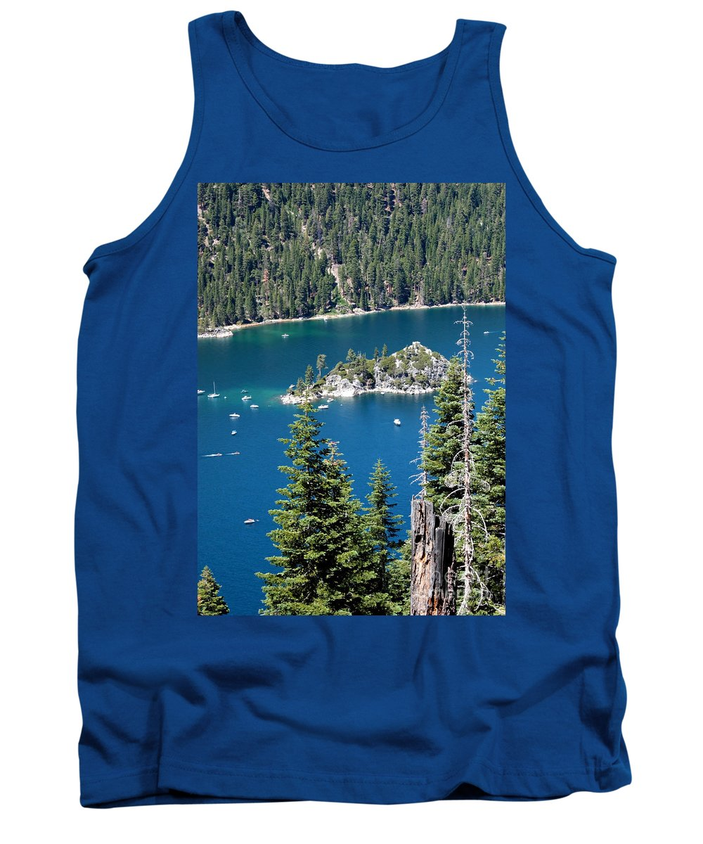 Emerald Bay Tank Top featuring the photograph Emerald Bay Vertical by Carol Groenen