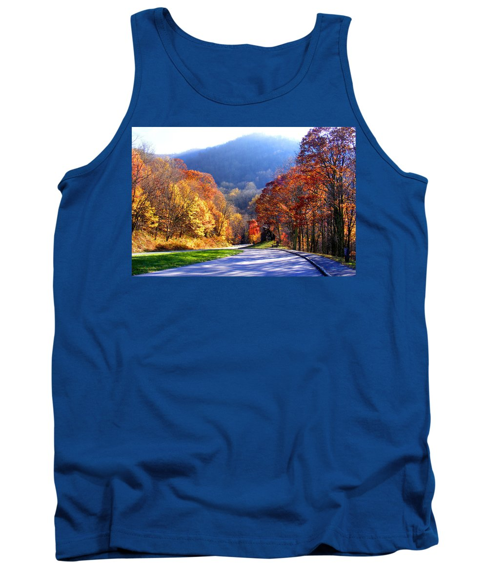 Fall Tank Top featuring the photograph Fall Road 2 by Duane McCullough