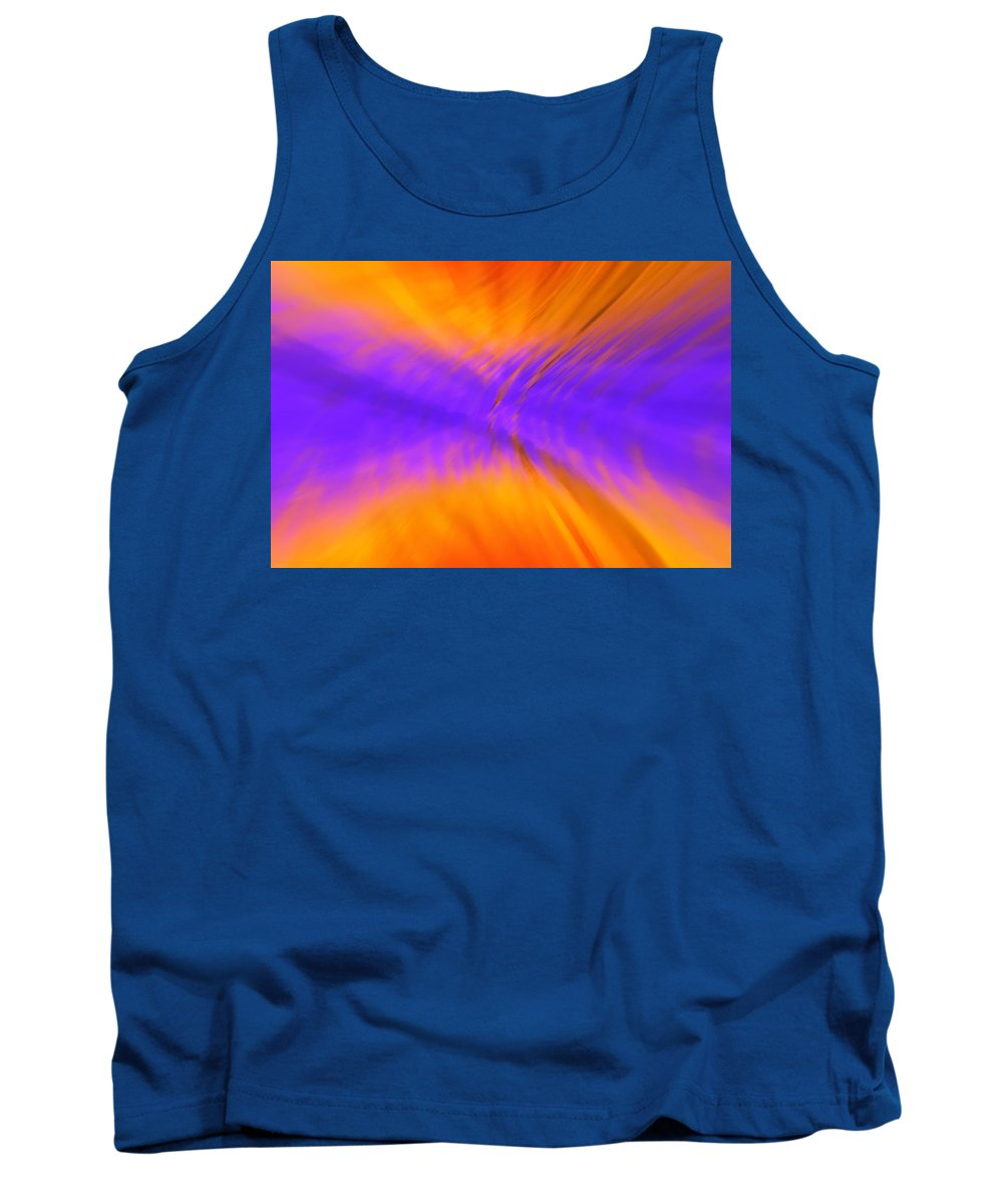 Flame Tank Top featuring the digital art Flame by Eric Weeber