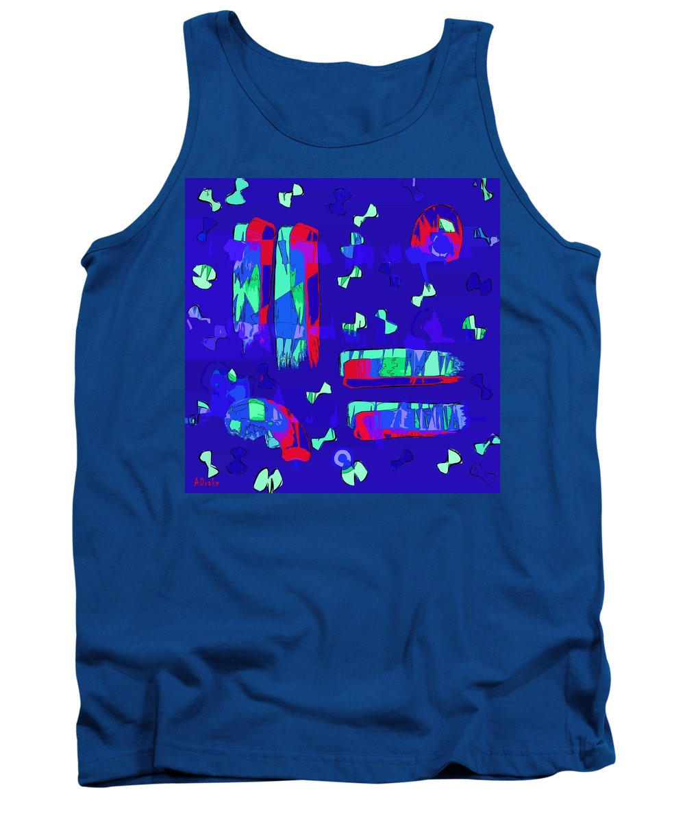 Fly Tank Top featuring the digital art Fly Me Home by Alec Drake