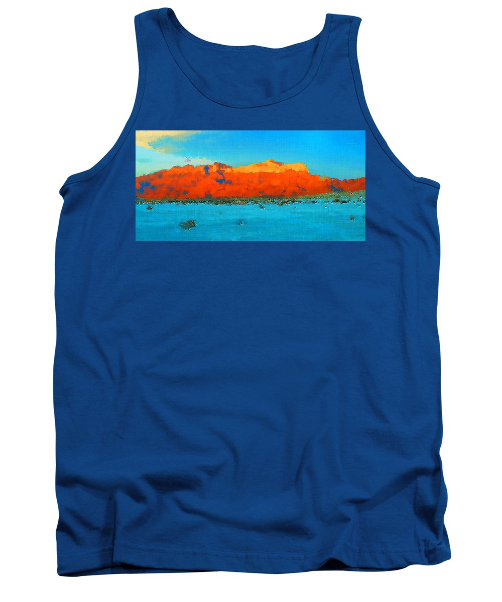Texas Tank Top featuring the photograph Guadalupe Mountains Sunset by David G Paul