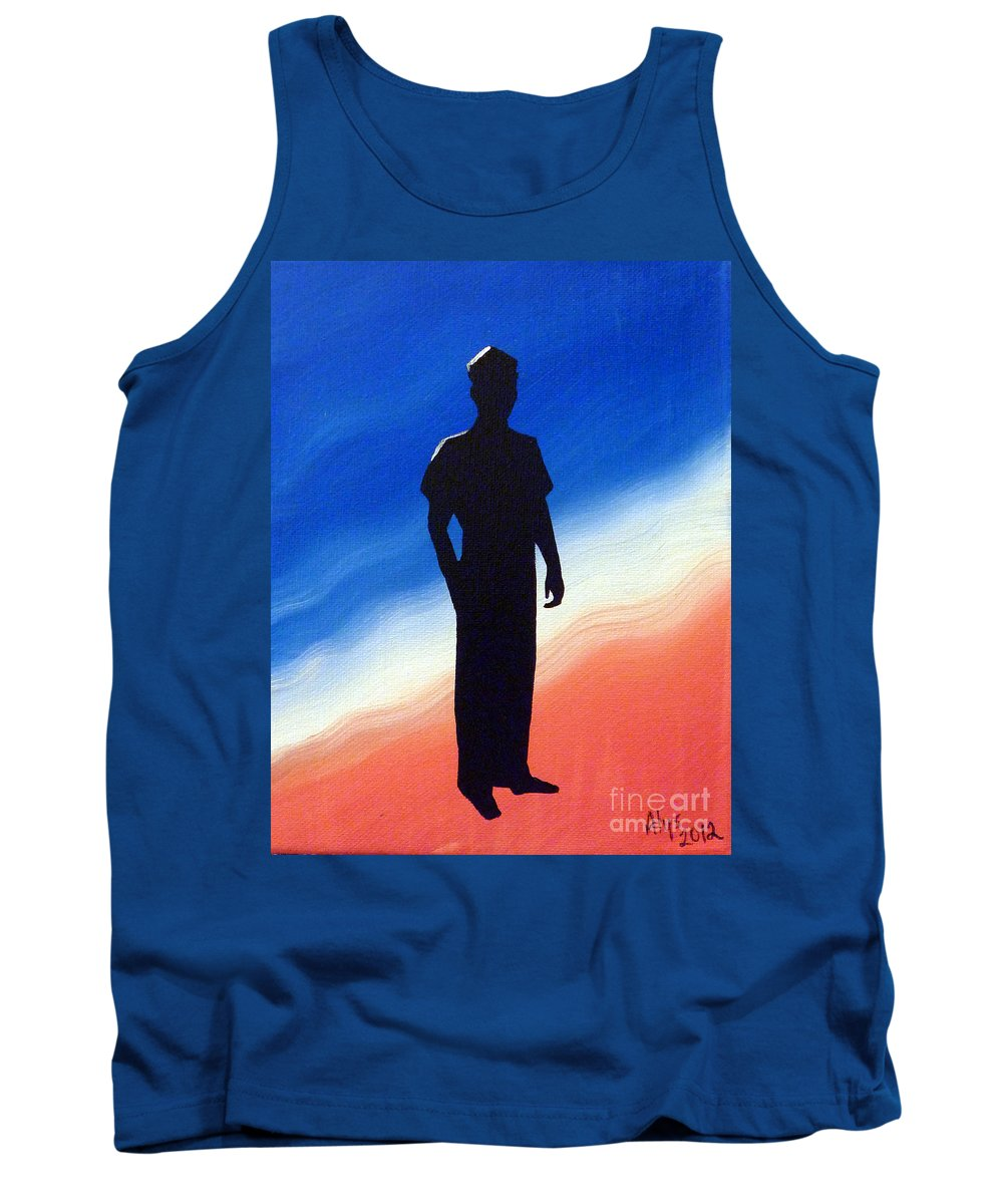 Enlisted Tank Top featuring the painting He Enlisted by Alys Caviness-Gober