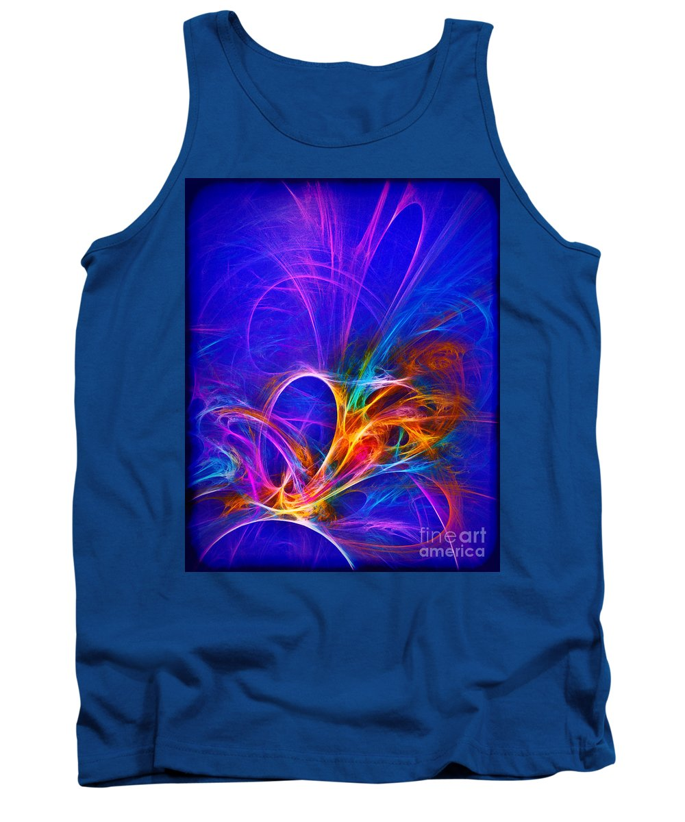 Fractal Tank Top featuring the photograph Headdress by Judi Bagwell