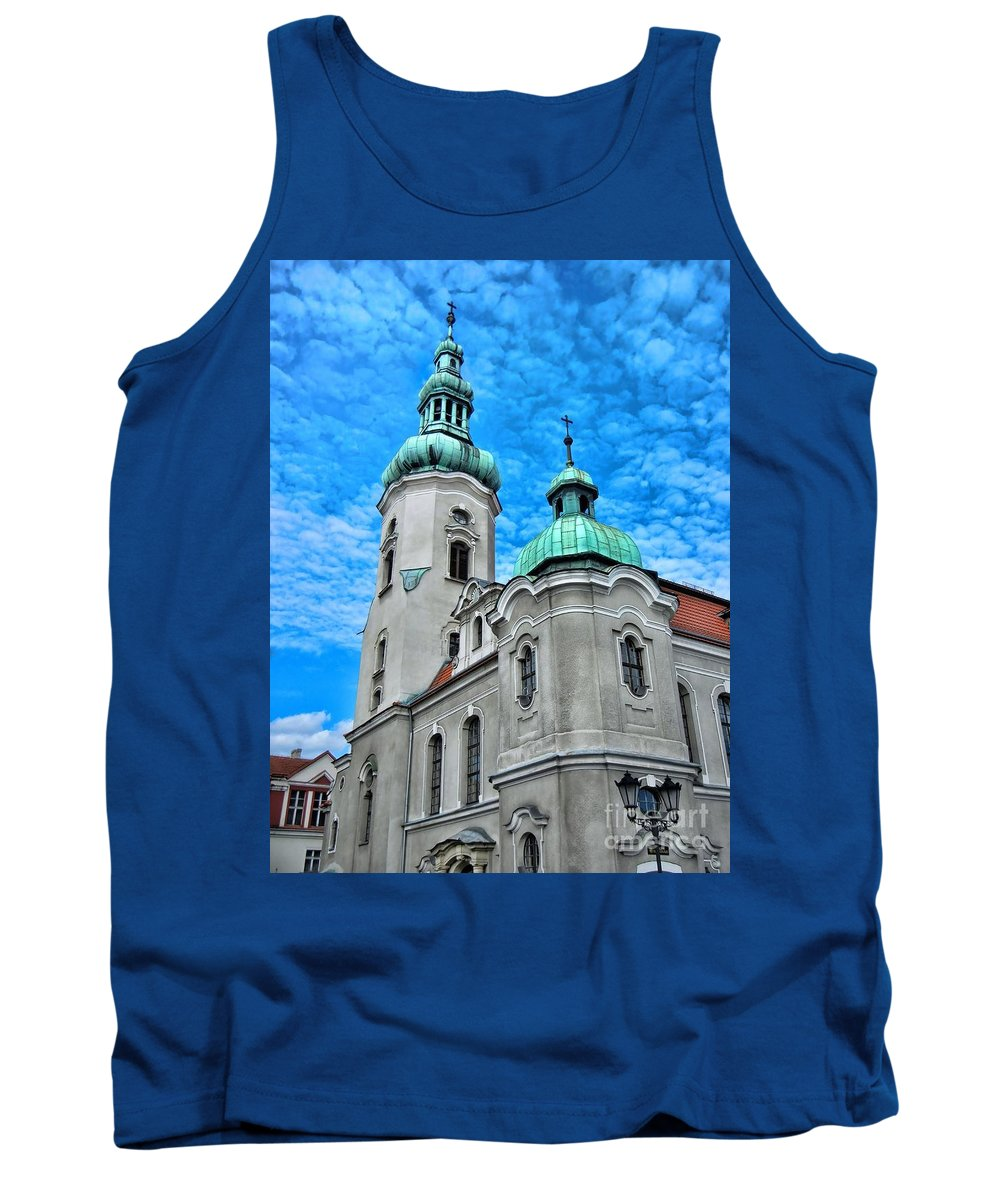 Heavenly Blues Tank Top featuring the photograph Heavenly Blues				 by Mariola Bitner