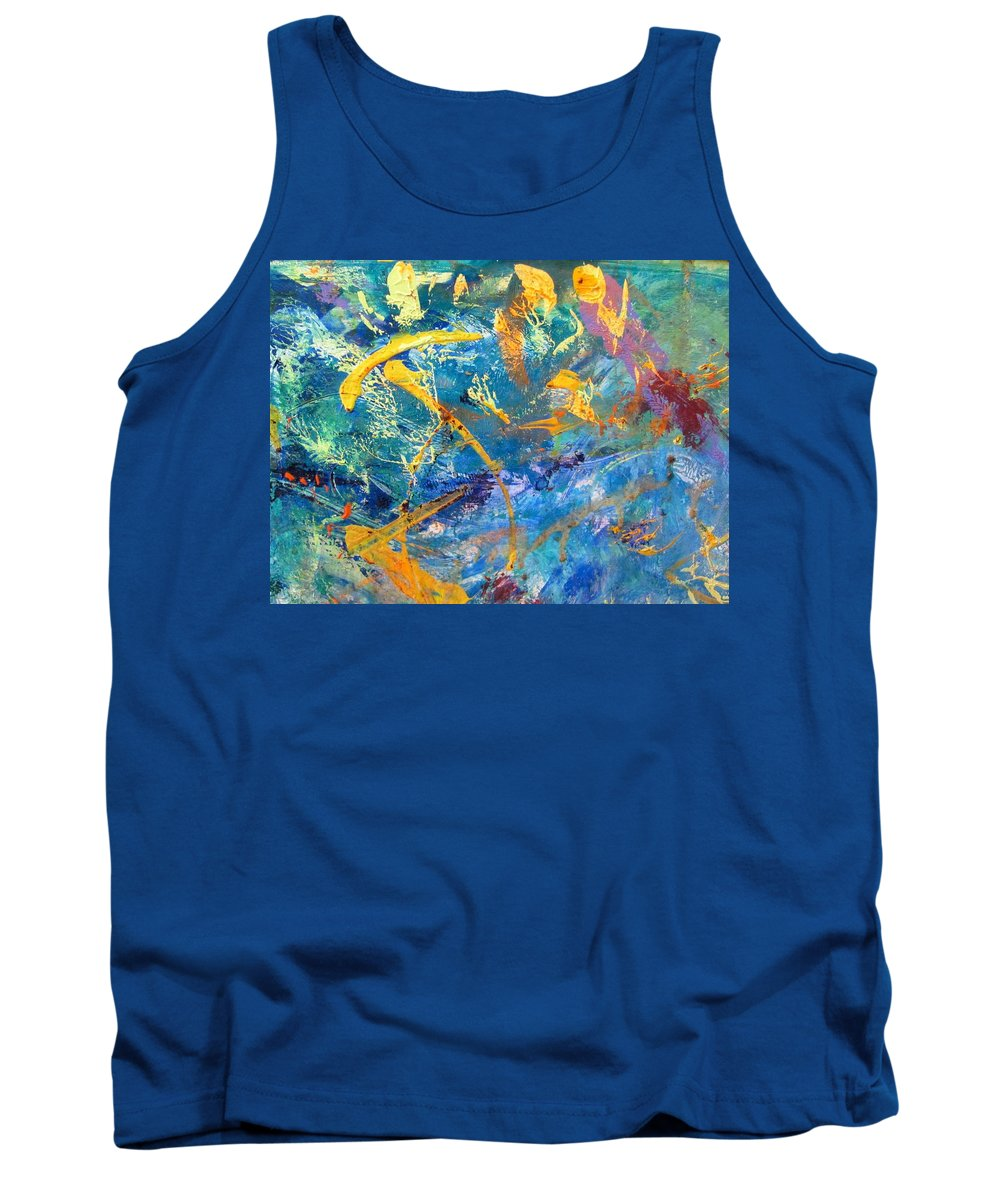Abstract Tank Top featuring the painting Impetus Of Joy by Paul Lee