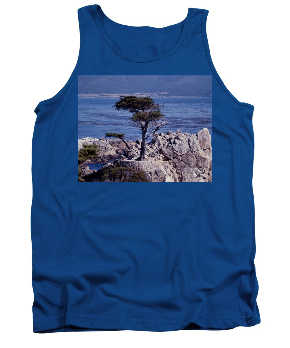 California Tank Top featuring the photograph Lone Cypress By The Sea by Stephen Whalen