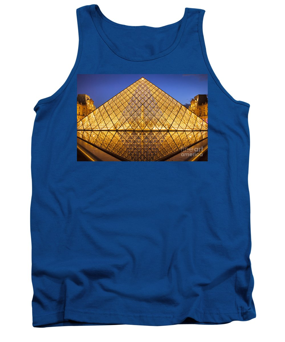 Architectural Tank Top featuring the photograph Louvre Pyramid by Brian Jannsen