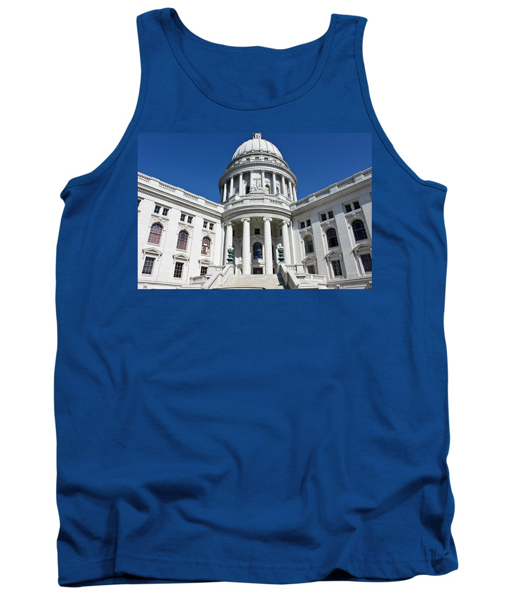 Madison Tank Top featuring the photograph Madison Capitol Building by Lauri Novak