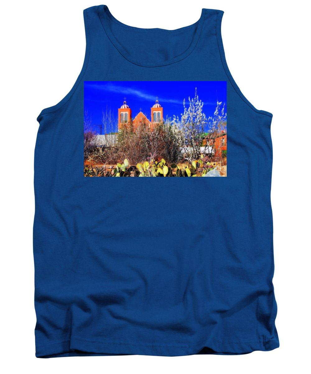 Mission Tank Top featuring the photograph Mission In Silver City Nm by Susanne Van Hulst