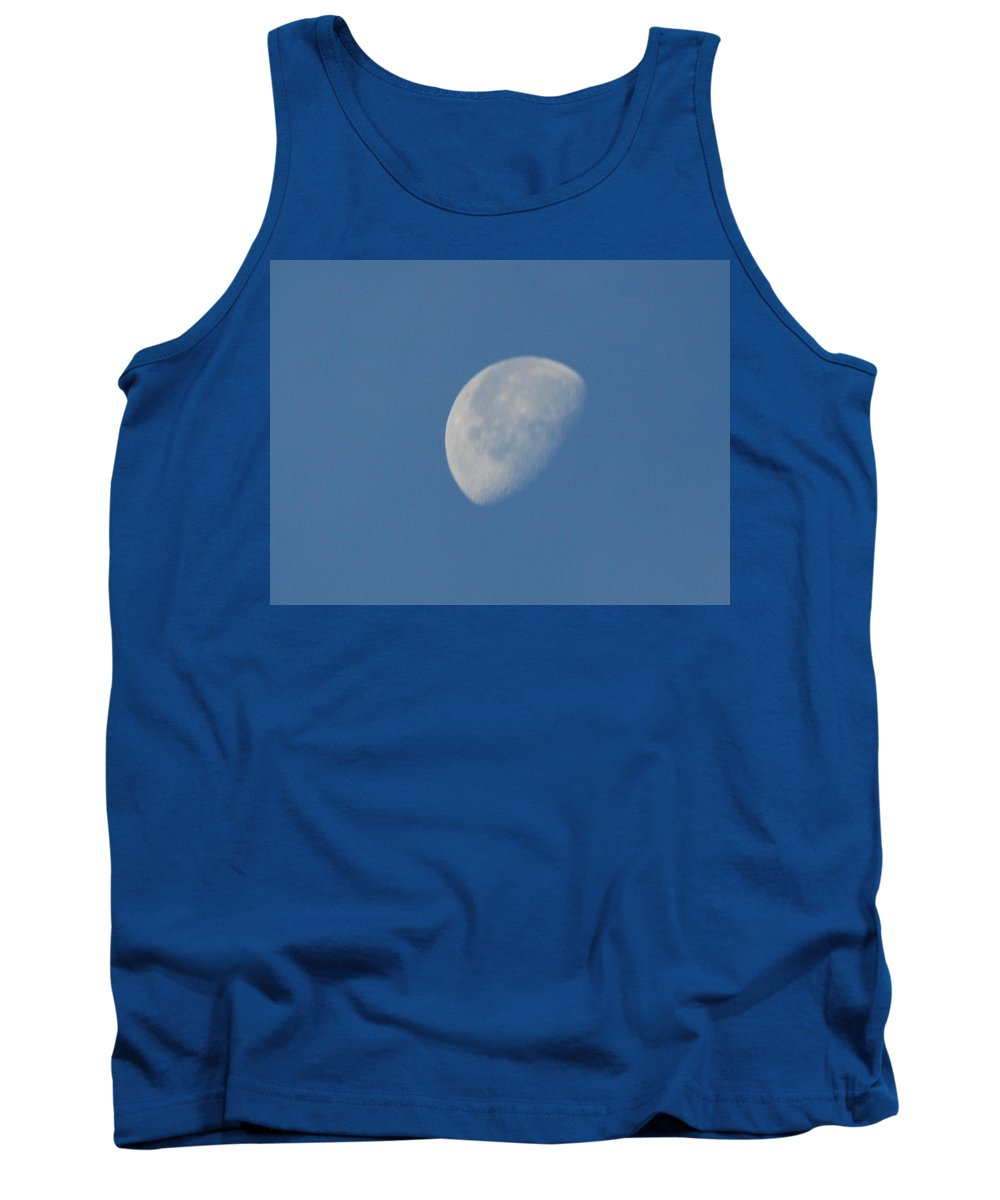 Moon Tank Top featuring the photograph Morning Moon by Michael Merry