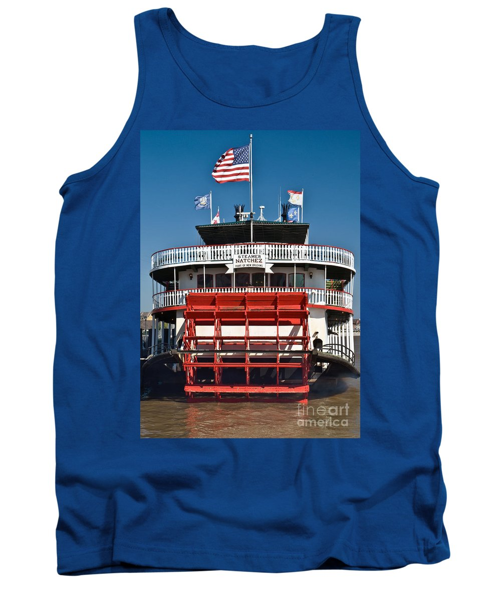 Religious Tank Top featuring the photograph Natchez Riverboat by Jim Chamberlain