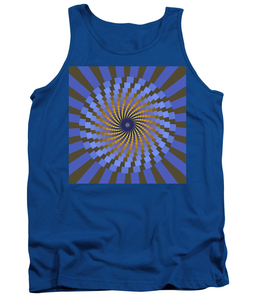 Fractal Tank Top featuring the digital art Ornament 2 by Mark Greenberg