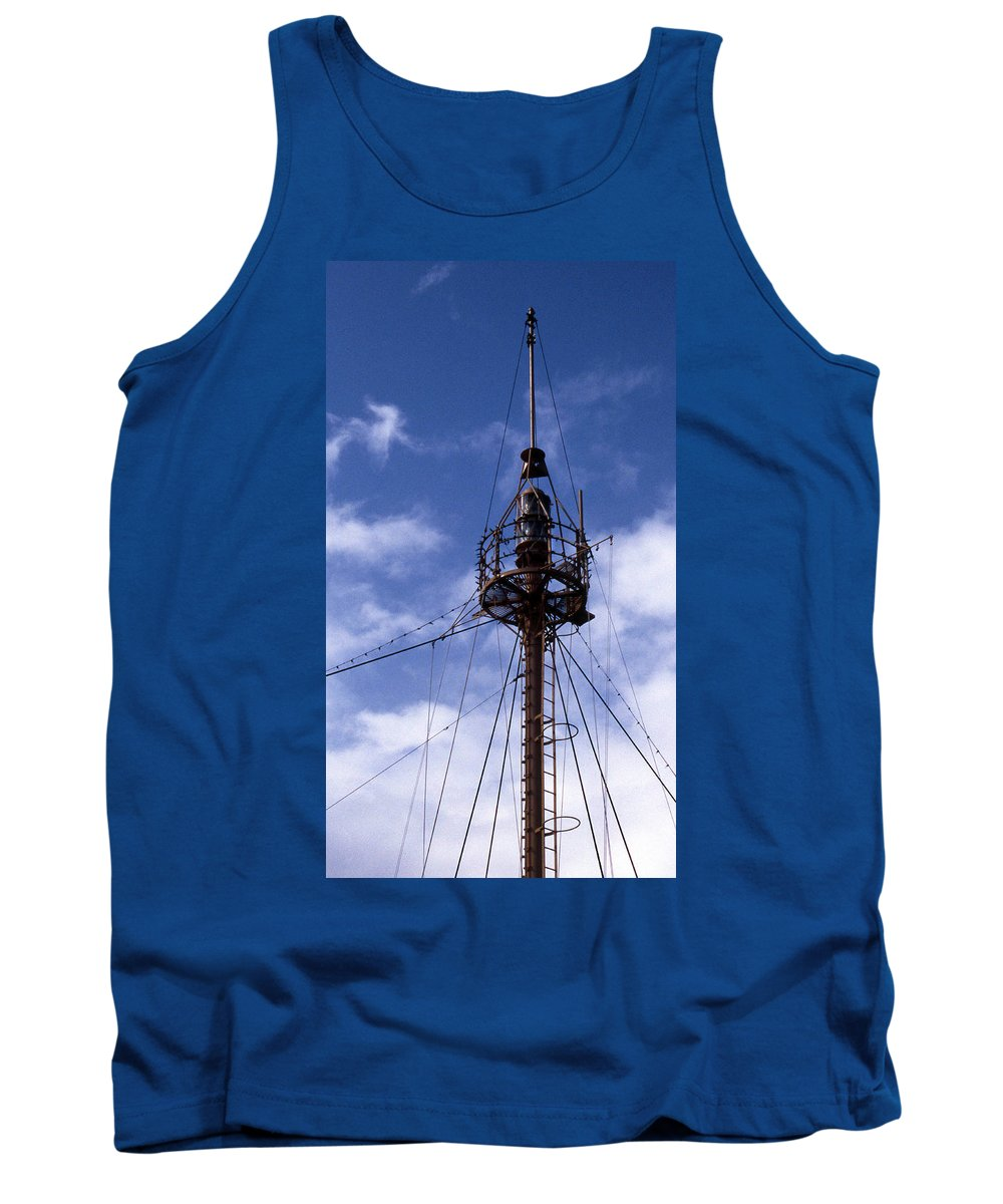 Overfalls Lightship Tank Top featuring the photograph Overfalls Light Station by Skip Willits
