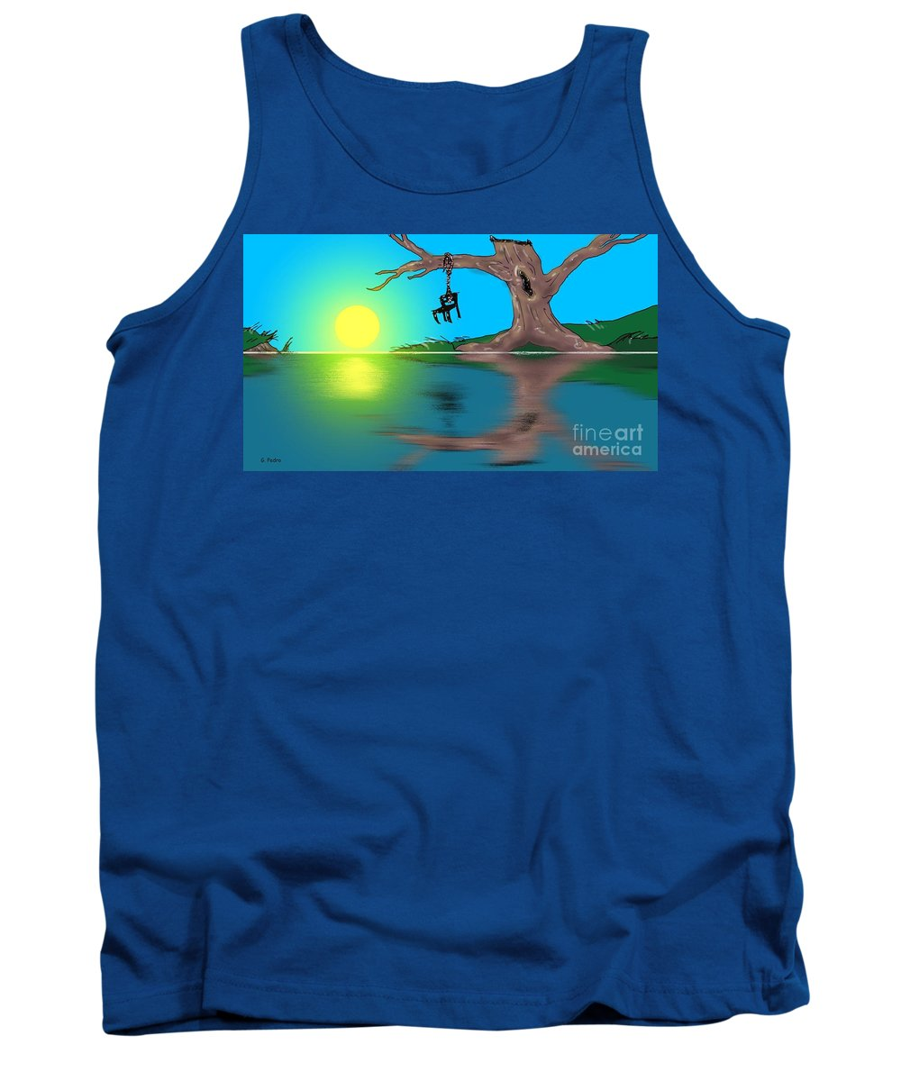 Politics Tank Top featuring the painting Political Sunrise by George Pedro