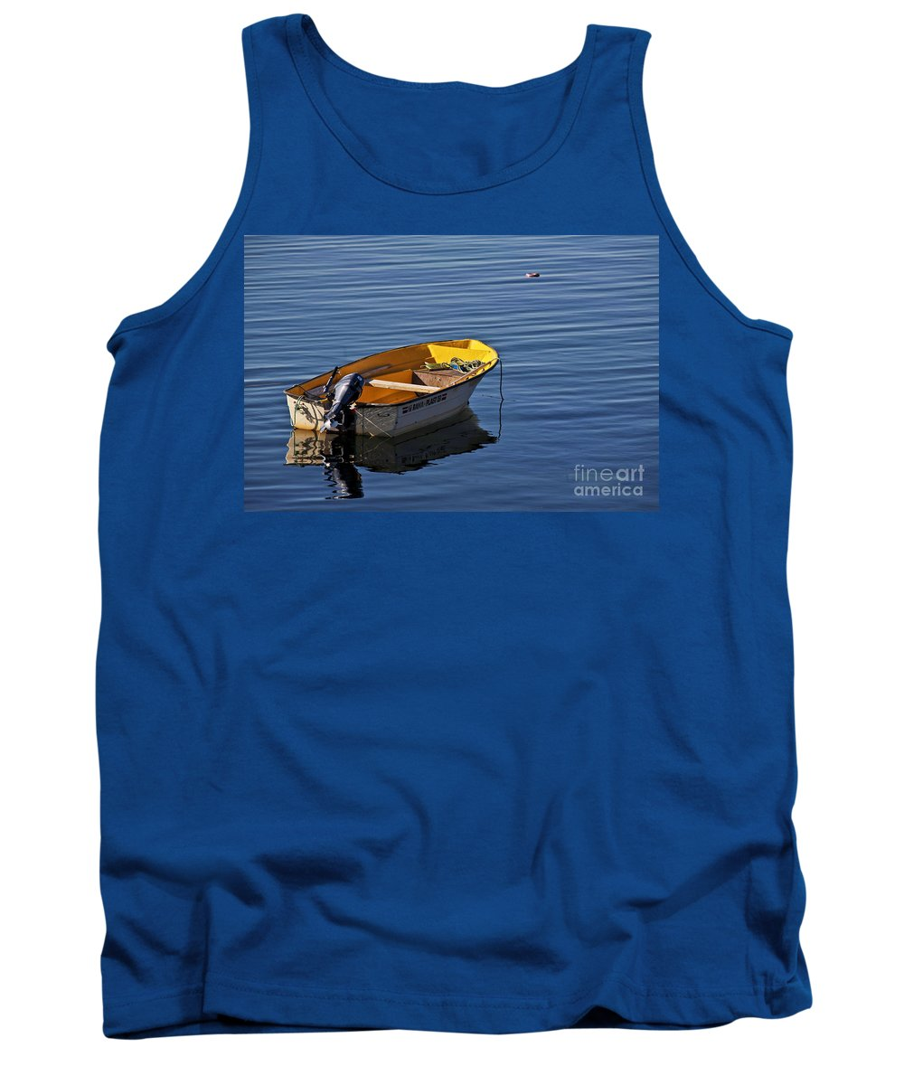 Water Tank Top featuring the photograph Rowing Boat by Heiko Koehrer-Wagner