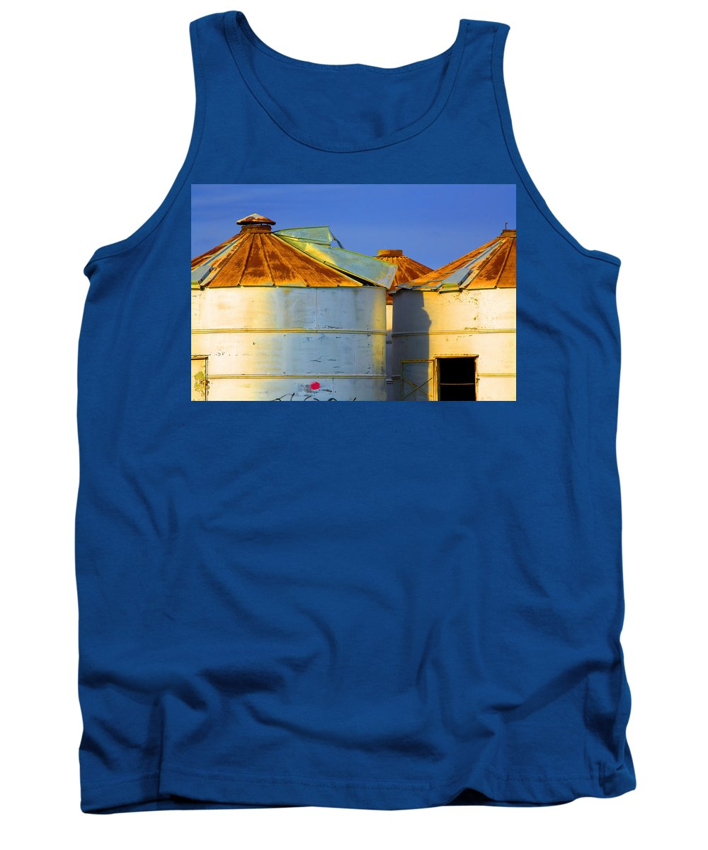 Farming Tank Top featuring the photograph Rustic On The Blue by Mark Greenberg
