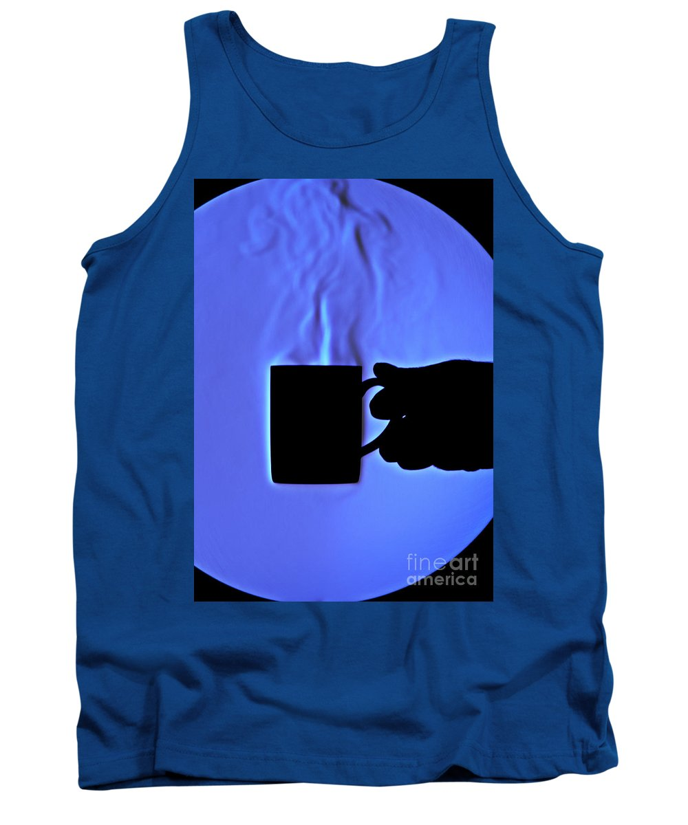 Schlieren Tank Top featuring the photograph Schlieren Image Of Hot Coffee Cup by Ted Kinsman