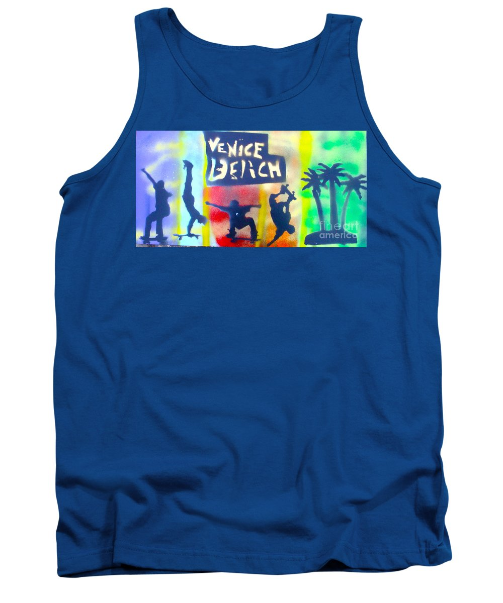 Skate Boarding Tank Top featuring the painting Skate Or Die by Tony B Conscious