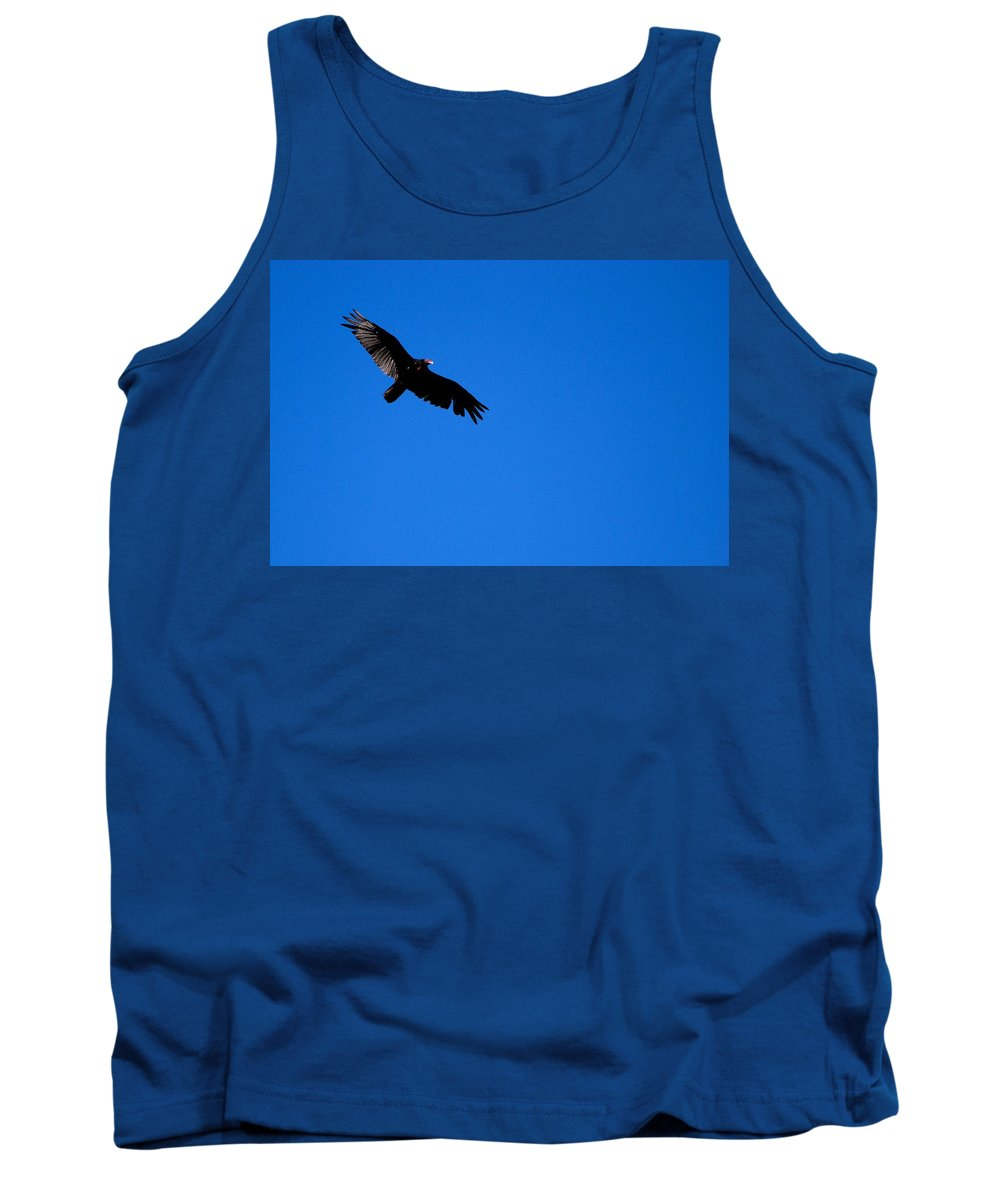 Turkey Vulture Tank Top featuring the photograph Soaring Vulture by Eric Tressler