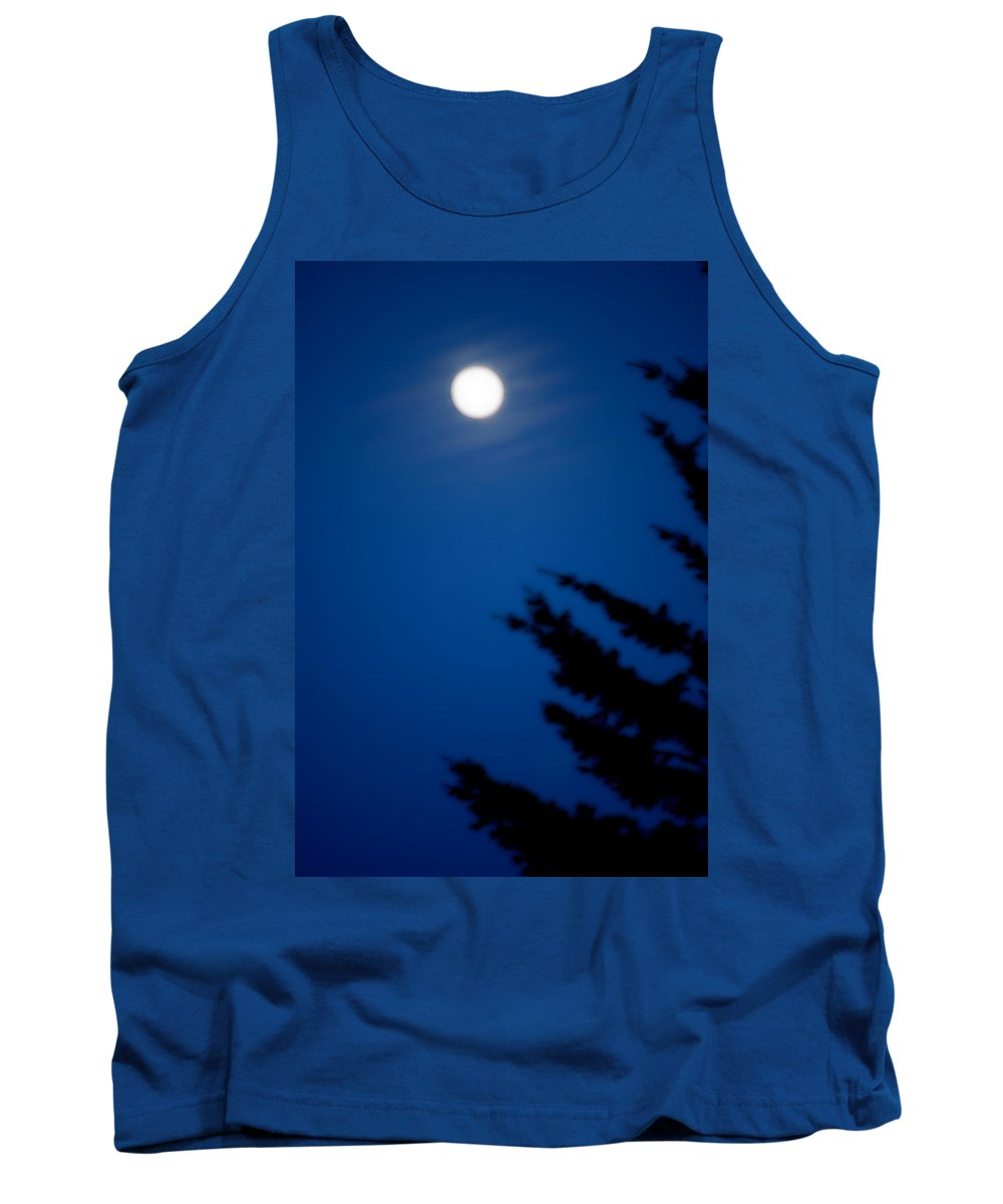 Moon Tank Top featuring the photograph Soft Moon by Kathy Sampson