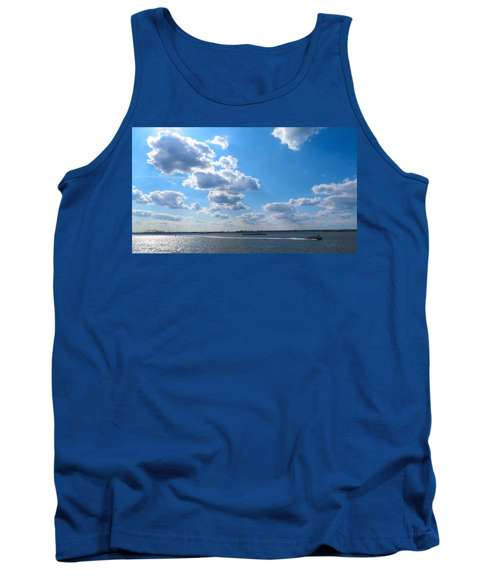 South Ferry Tank Top featuring the photograph South Ferry Water Ride14 by Terry Wallace