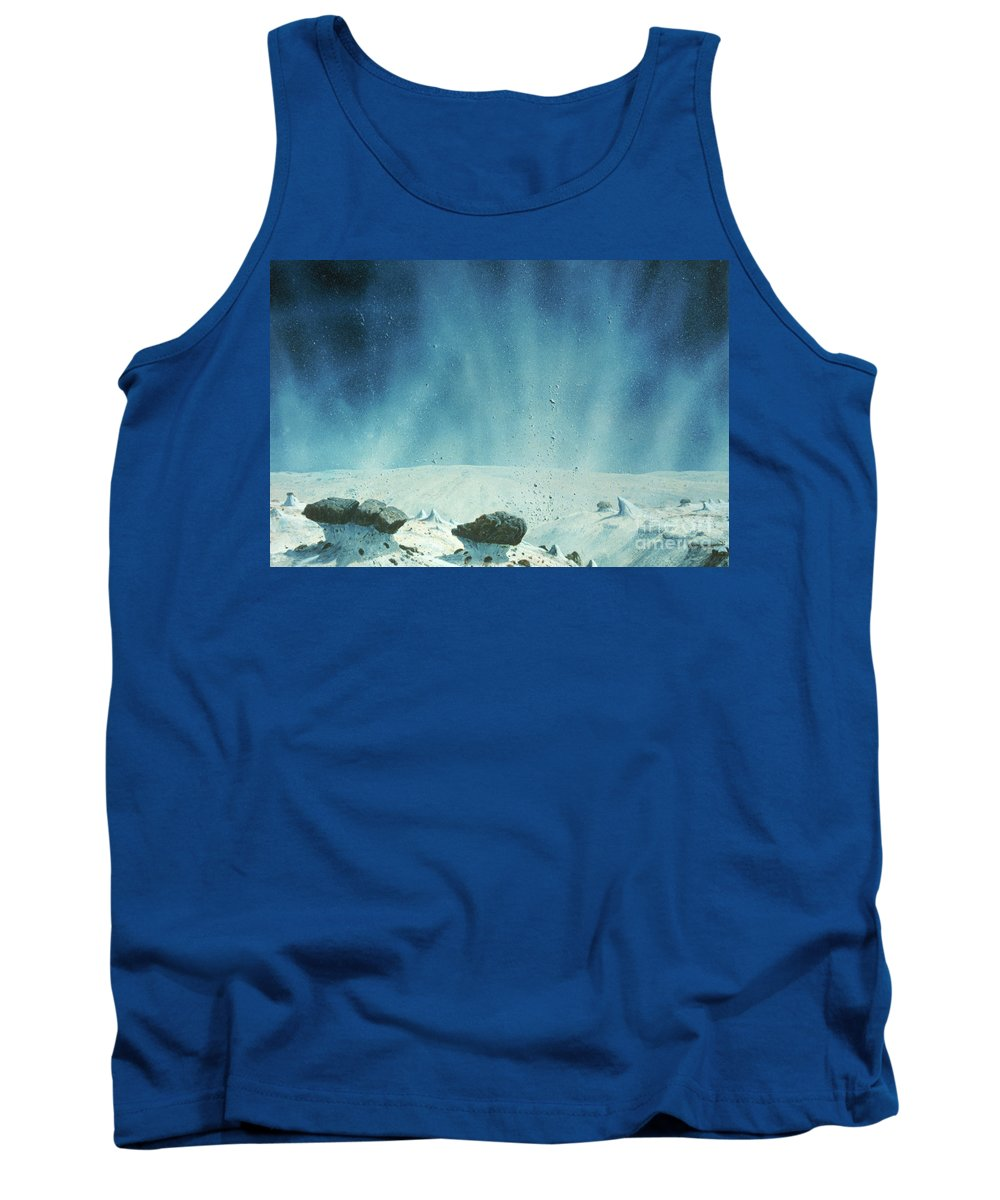 Comet Tank Top featuring the photograph Surface Of A Comets Nucleus by A.s.p.