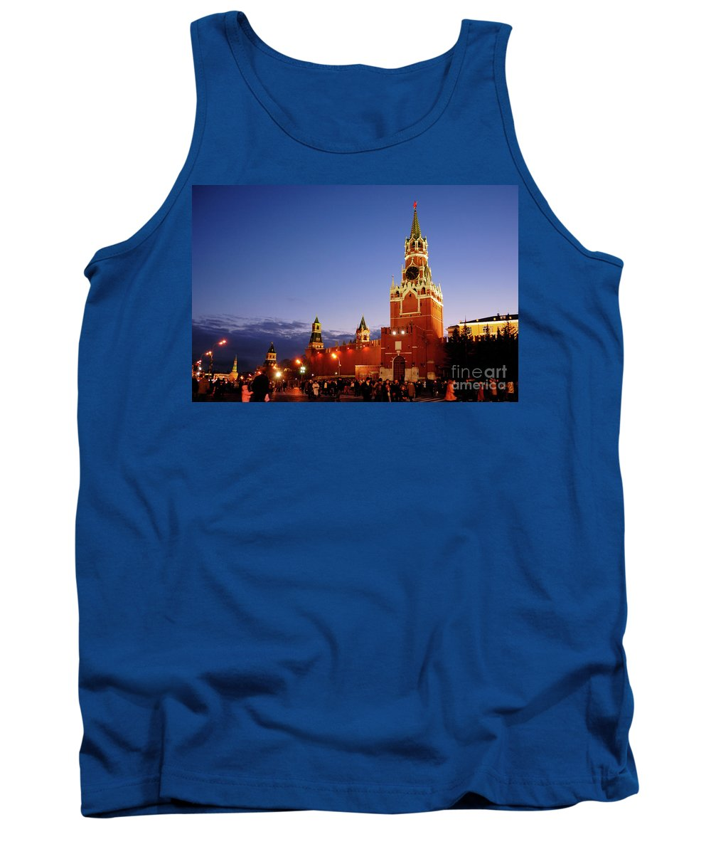 Red Square Tank Top featuring the photograph The Kremlin In Moscow by Oleksiy Maksymenko
