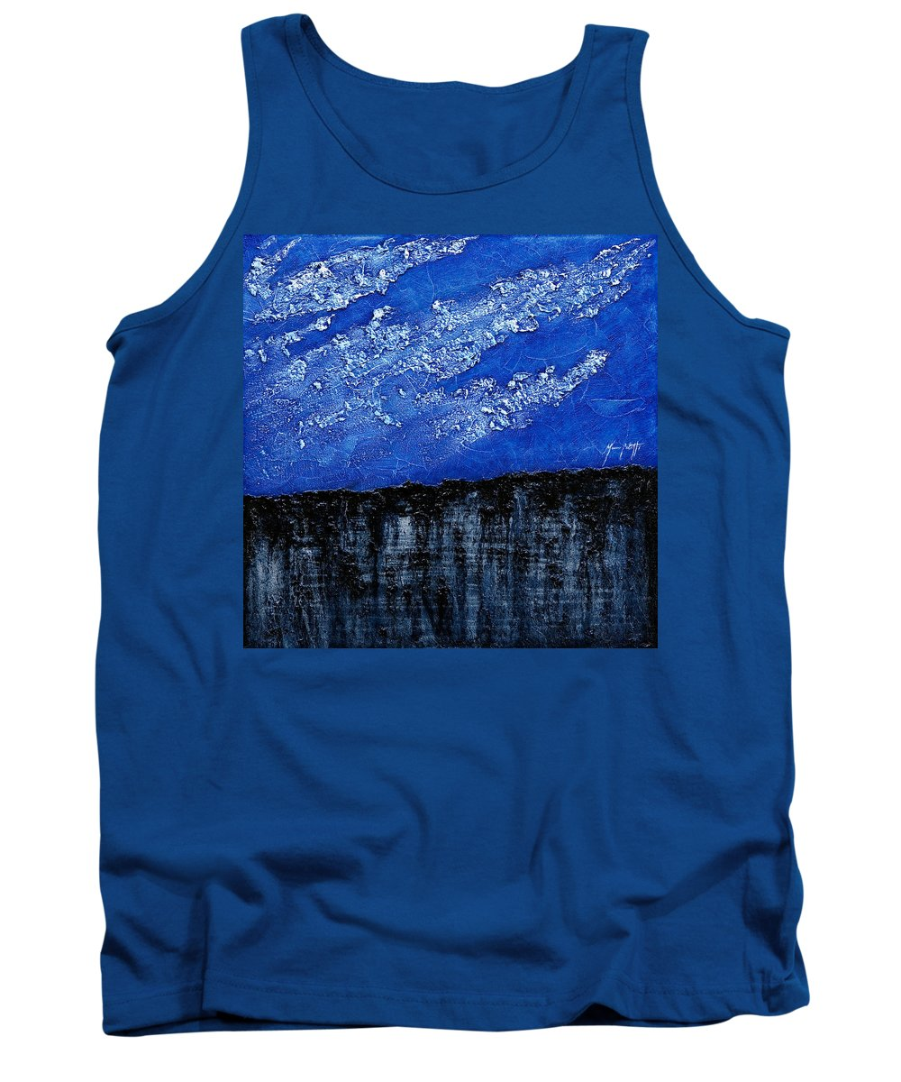 Art Tank Top featuring the painting White Clouds by Mauro Celotti