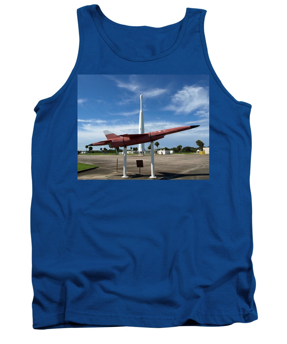 Thor; Able; Thor-able; Missle; U.s.; Airforce; Air Force; Air; Force; Cape; Canaveral; Nasa; Rocket; Tank Top featuring the photograph Air Force Museum At Cape Canaveral by Allan Hughes