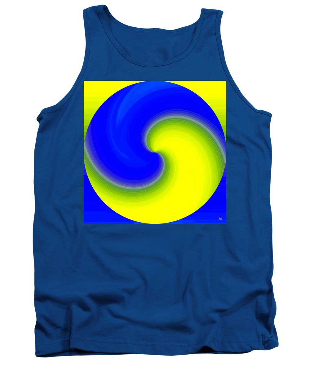 Abstract Tank Top featuring the digital art Harmony 22 by Will Borden