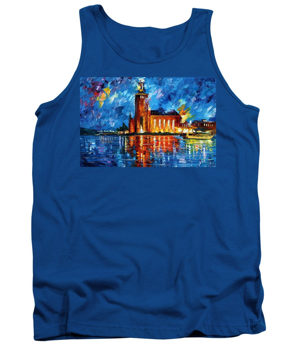 Boat Tank Top featuring the painting Lighthouse by Leonid Afremov