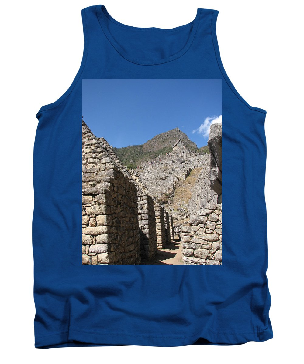 Landscape Tank Top featuring the photograph Macchu Picchu 9 by Sandra Bourret
