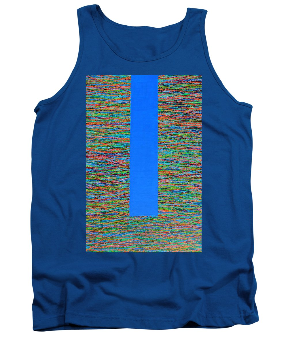 Contemporary Tank Top featuring the painting Small Door by Kyung Hee Hogg