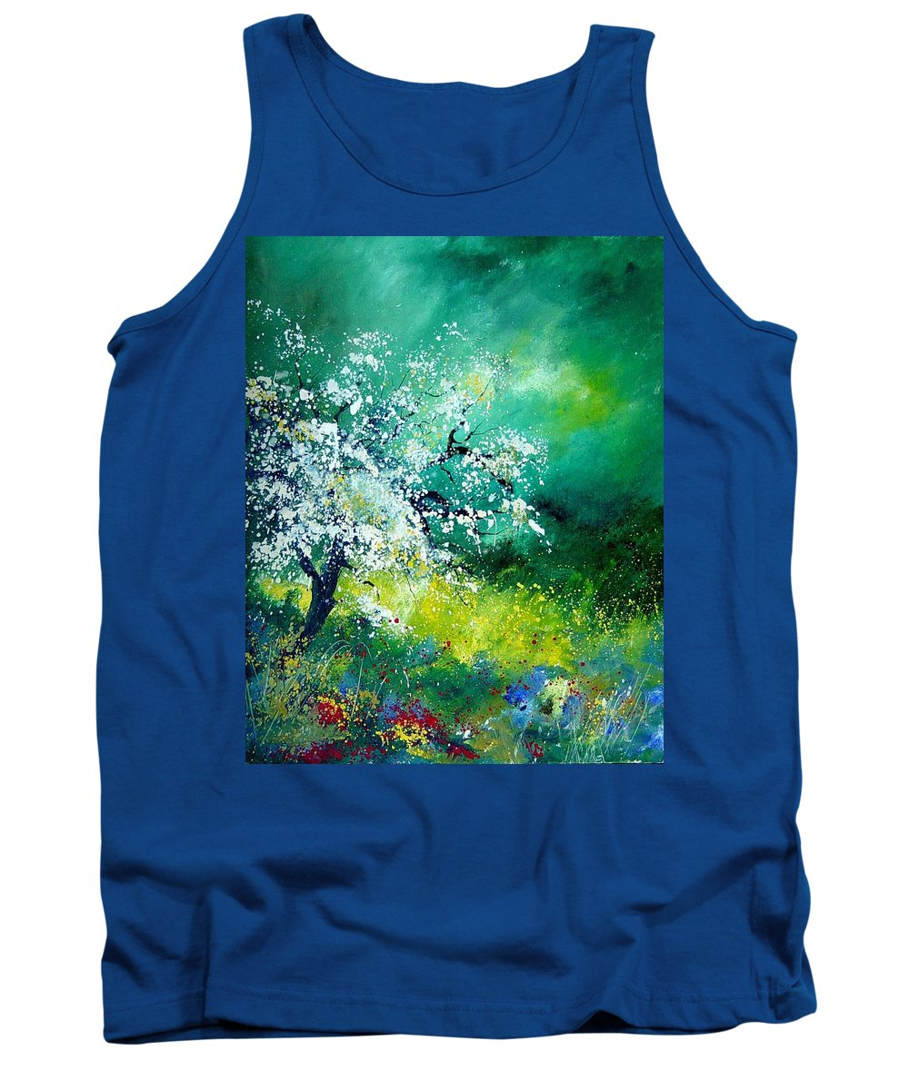 Flowers Tank Top featuring the painting Spring by Pol Ledent