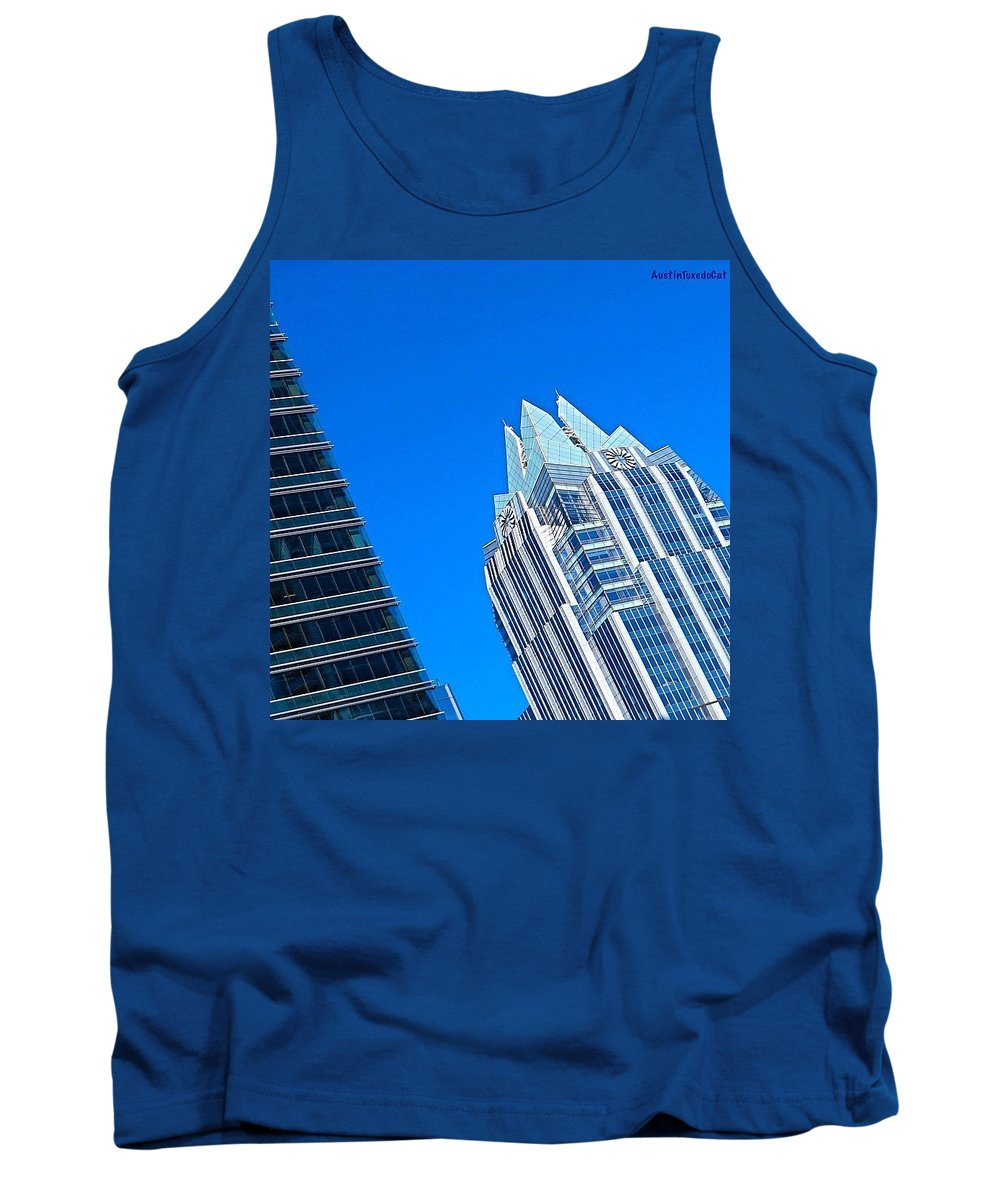 Skyscrapers Tank Top featuring the photograph Such A Perfect #bluesky Day In by Austin Tuxedo Cat