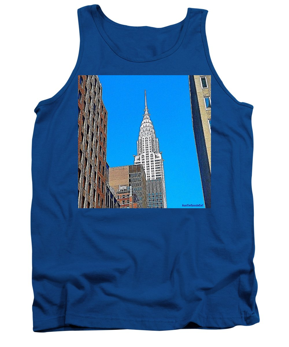 Wishiwasthere Tank Top featuring the photograph #tbt - #newyorkcity June 2013 by Austin Tuxedo Cat