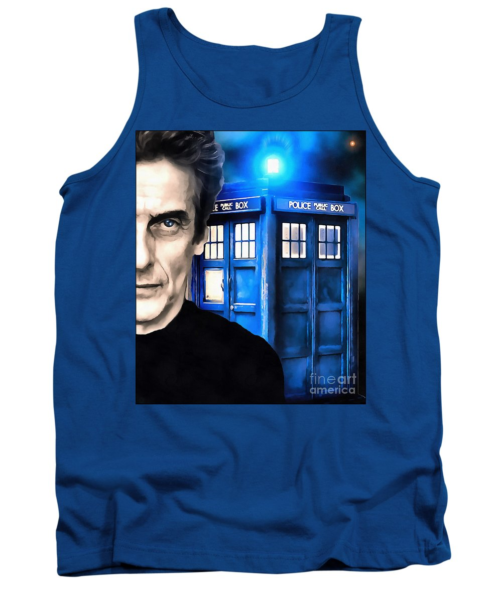 Doctor Who Tank Top featuring the digital art Twelve by Robert Radmore