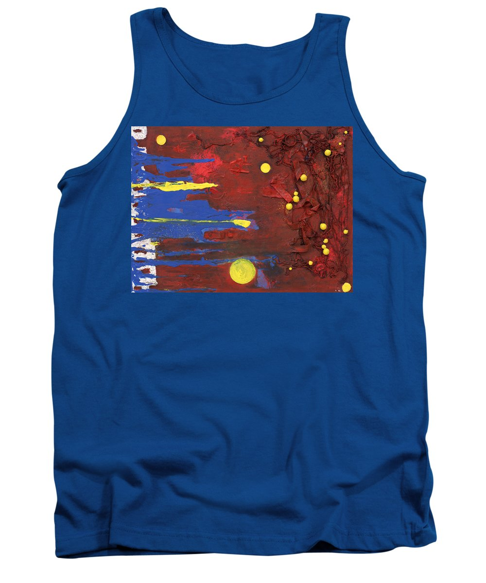Red Tank Top featuring the mixed media Untitled by Jaime Becker