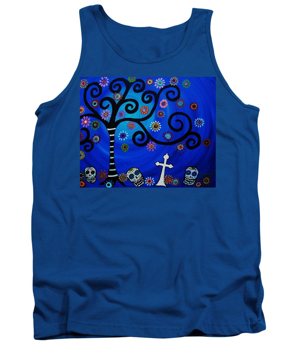 Day Of The Dead Tank Top featuring the painting Day Of The Dead by Pristine Cartera Turkus