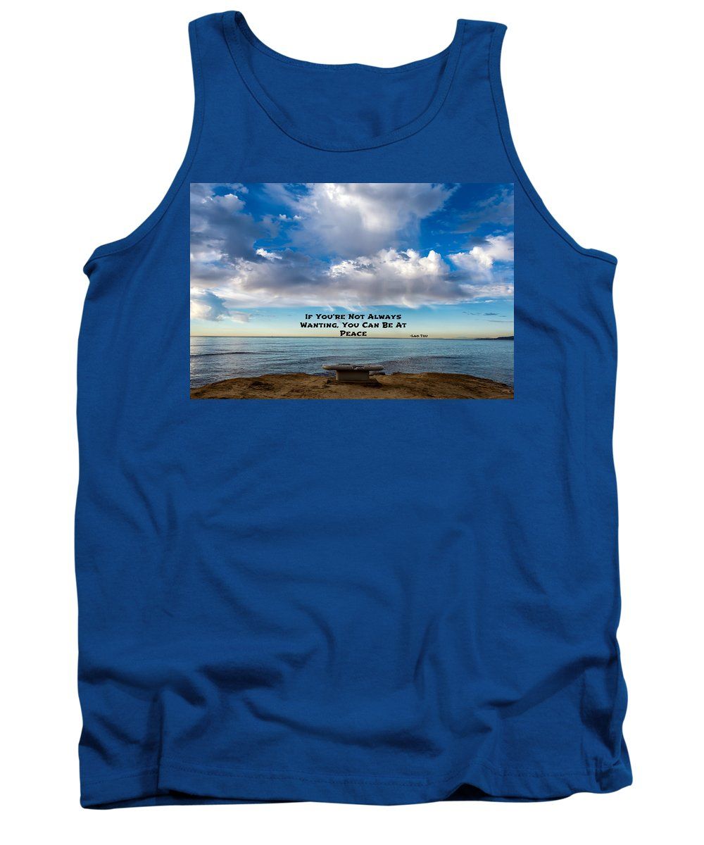 Lao Tzu Tank Top featuring the photograph Lao Tzu Quote by Joseph S Giacalone