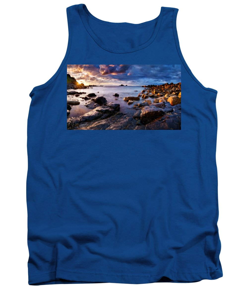 P Tank Top featuring the digital art Landscape Definition by Usa Map