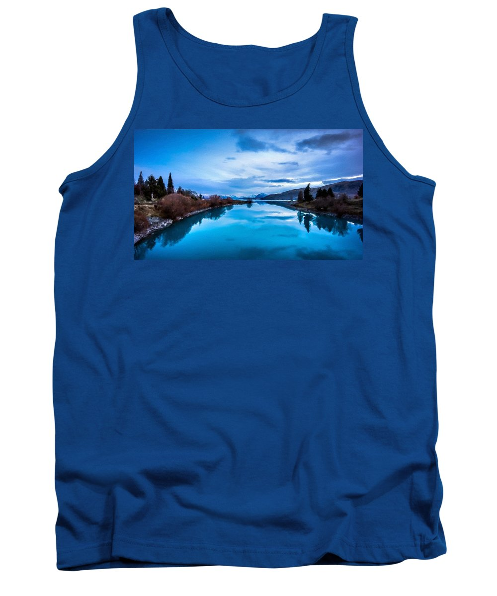 Nature Tank Top featuring the digital art Pro Landscape by Usa Map