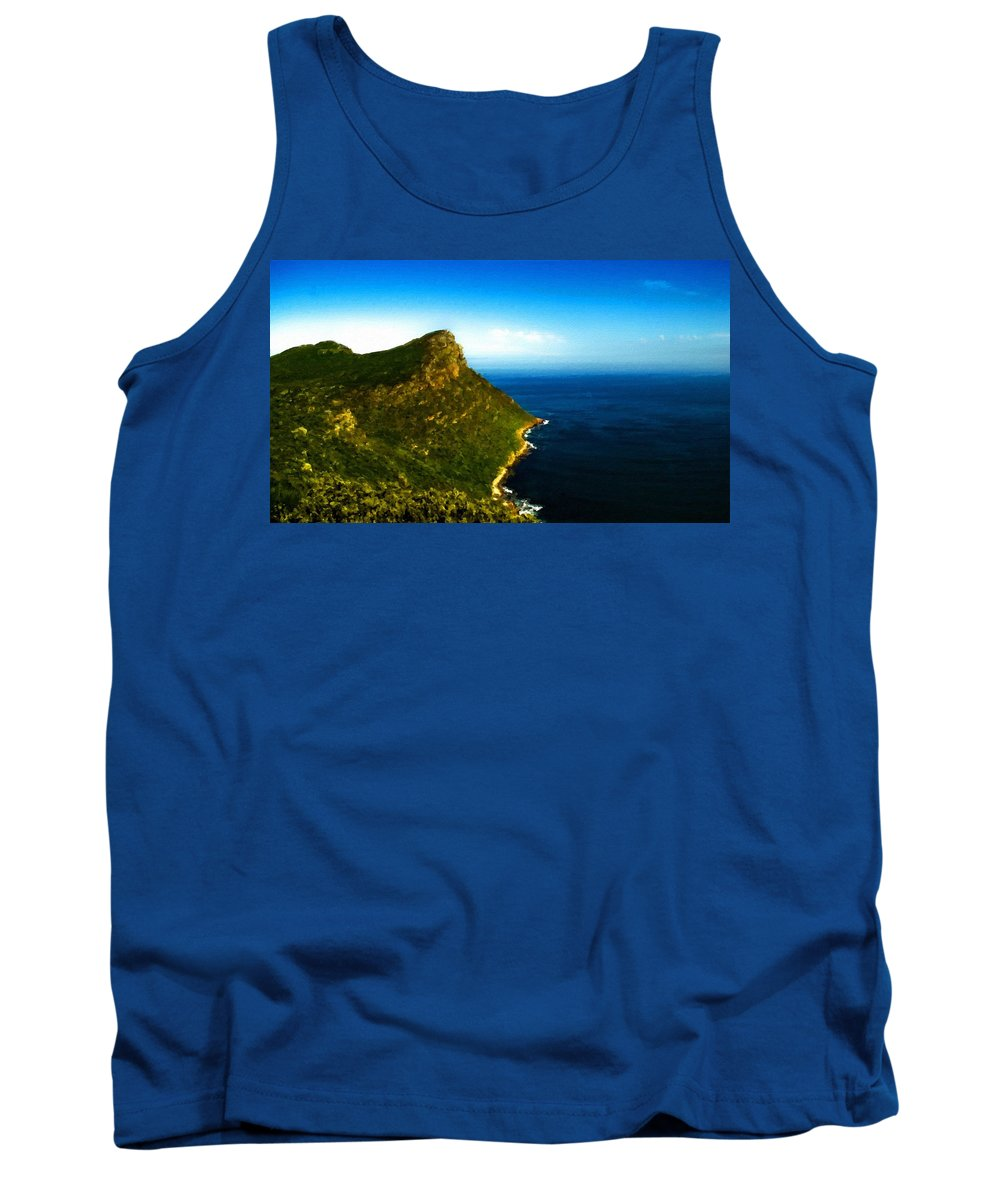 Nature Tank Top featuring the digital art Landscape Drawing by Usa Map