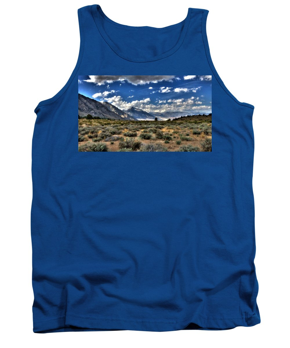 Landscape Tank Top featuring the digital art Poster Landscape by Usa Map